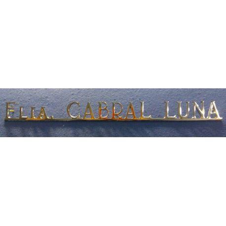 Letras de bronce fundidas