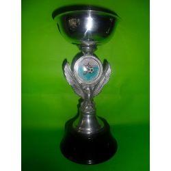 Copa Águila de metal pulido 27 cm