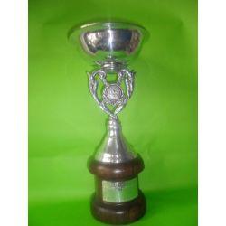 Copa Clásica de bronce con baño de plata 29 cm