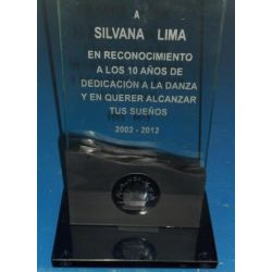Placa doble vidrio