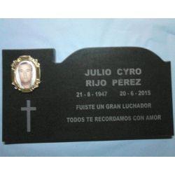 Placa granito con foto