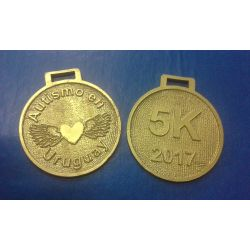 MEDALLAS METAL CON LOGO EN RELIEVE