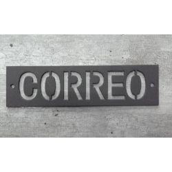 CARTEL HIERRO CALADO PINTADO