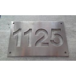 PLACA ACERO INOXIDABLE CALADO