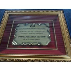 Cuadro Nº 321 con vidrio pergamino de bronce