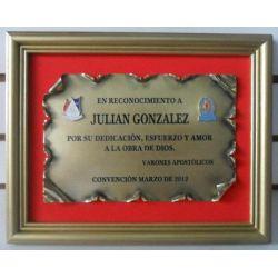 Cuadro Nº 302 pergamino bronce esmaltado