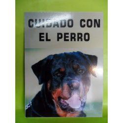 Cartel sintra cuidado con el perro